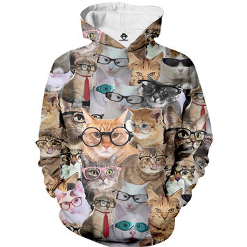 Cats Glasses Hoodie
