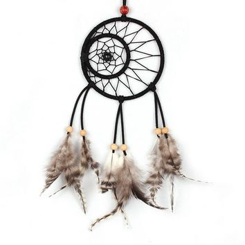35cm Dream Catcher Circular Net With feathers Wall Hanging Decoration Home Decor Ornament Drop Shipping free shipping