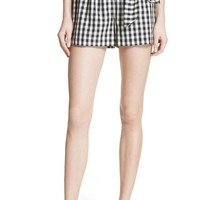 Joie Cleantha Gingham Cotton Shorts | Nordstrom