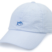 Southern Tide Seersucker Hat- Blue
