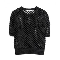 t by alexander wang - cropped open-knit sweater