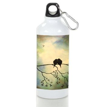 Gift Sport Bottles | Birds In Tree Branch Art Painting Aluminum Sport Bottles