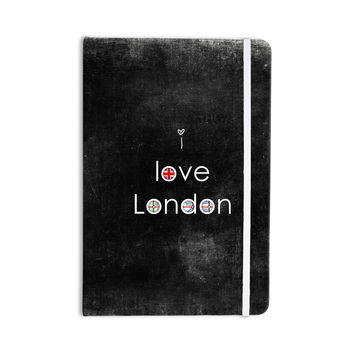 "Ingrid Beddoes ""I Love London"" Black Grundge Everything Notebook"