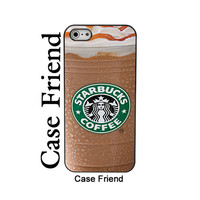Starbucks iphone5 iced coffee iphone case funny gimmick iphone5 hard case