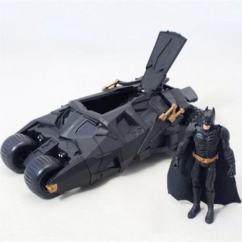 Batman Dark Knight gift Christmas 2Pcs/Set Batman Tumbler Battle Vehicle Simulation Model Toy Car With Movable PVC Action Figure Toys Kids Christmas Gift AT_71_6