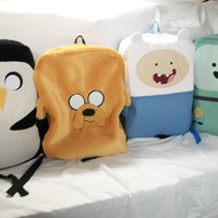 FREE SHIPPING....  full size Adventure Time backpack with ajustable straps book bag