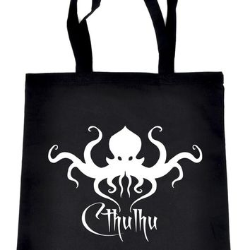 H.P. Lovecraft Cthulhu Octopus Tote Book Bag School Goth Occult