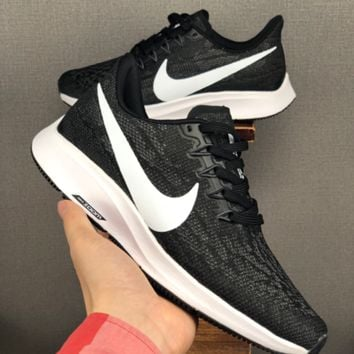 HCXX 19June 1227 NIKE AIR ZOOM VOMERO 14 Mesh Breathable Running Shoes black white