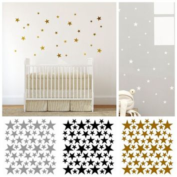 Gold Polka Dots Wall Sticker Baby Kids Nursery Stickers Wall Decals Home Decor MMO