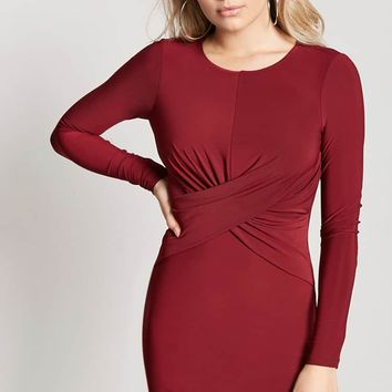 Twist-Front Bodycon Dress - Women - 2000210663 - Forever 21 Canada English