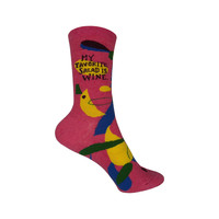 My Favorite Salad Crew Socks in Pink