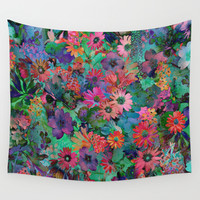 A Small Piece of Grandma's Garden Wall Tapestry by Klara Acel