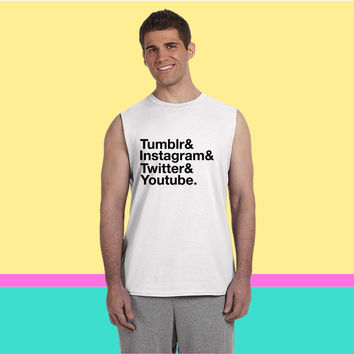 Tumblr, Instagram, Twitter, Youtube Sleeveless T-shirt