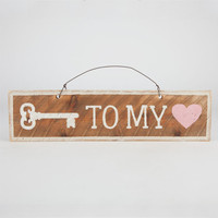 Key To My Heart Sign Brown Combo One Size For Women 24845144901