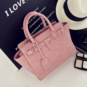Korean Fashion Matte Decoration One Shoulder Bags [8226385287]
