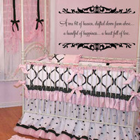 A Wee Bit of Heaven - Baby Nursery Vinyl Wall Decal Quote Lettering - Baby Girl Boy Nursery Toddler Room Wall Art 22H x 36W CQ003