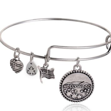 Alex and Ani style ancient silver plating Charm Bracelet, a perfect gift !