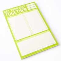"Knock Knock ""Get Your S*** Together"" Note Pad - Gifts for Him - Gifts"