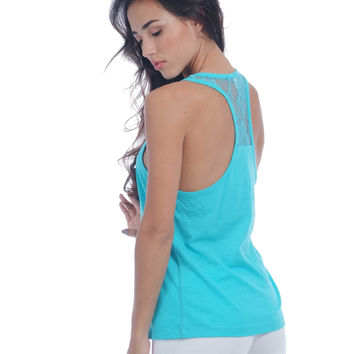 Racer Tank Top with Laced Back