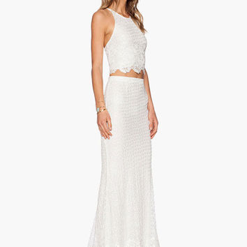 High Waisted White Maxi Skirt - Dress Ala