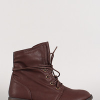 Wrap Around Lace Up Ankle Bootie
