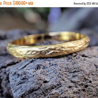 SALE 10% OFF gold wedding band wedding ring for men and women 14k or 18k solid yellow rose white gold twig engagement ring