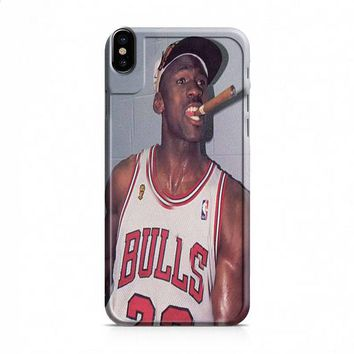 Michael Jordan Cigar iPhone X case