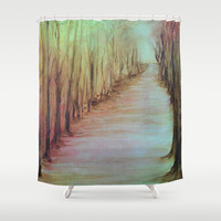 BARE TREES Shower Curtain by RokinRonda