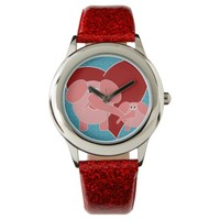 Coral Pink Elephant mother & baby animal Kid Watch
