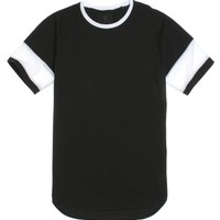 On The Byas Jack Mesh Raglan T-Shirt - Mens Tee - Black