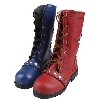Batman Harley Quinn Cosplay Shoes Arkham Knight Cosplay Boots batman Boots batman cosp