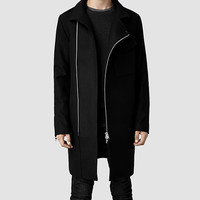 Mens Barton Coat (Black) | ALLSAINTS.com