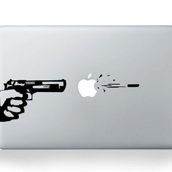 Shot at Apple Mac Decal by AmusingDecal