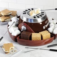 Nostalgia SMM300 Party Size Electric S'mores Maker with Roasting Forks & Storage Compartment