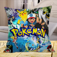 Pokemon All Character on Square Pillow Cover