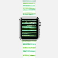 Glamour Stripes Seafoam Apple Watch Band case by Lisa Argyropoulos | Casetify