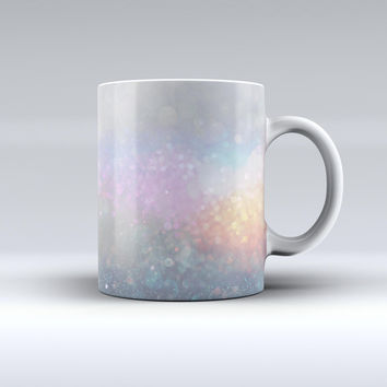 The Tie Dye Unfocused Glowing Orbs of Light ink-Fuzed Ceramic Coffee Mug