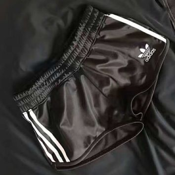 ADIDAS Fashion Print Logo Side Stripe Contracted Casual Sport Shorts G-A-XYCL
