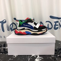 Balenciaga Triple-s  Men Casual Shoes Boots fashionable casual leather