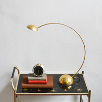 Vintage brass lamp bow bow desk lamp West German 80s