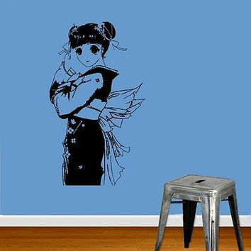 ANIME SEXY GIRL JAPANESE GEISHA DESIGN WALL VINYL STICKER MURAL ART DECAL D531