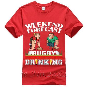 Weekend Forecast Rugby With A Chance Of Drinking - Beer T-shirt