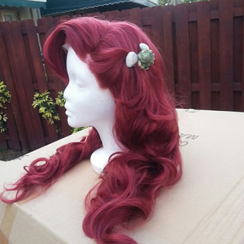 Ariel The Little Mermaid Inspired Couture wig w/ original headpiece