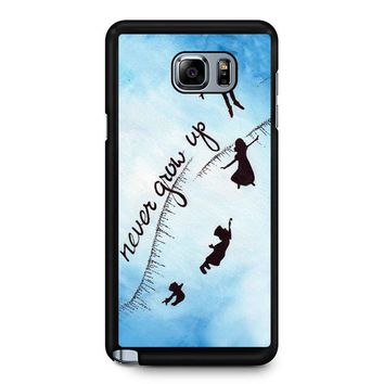 Peter Pan Never Grow Up 2 Samsung Galaxy Note 5 Case