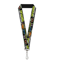 TMNT Teenage Mutant Ninja Turtles TMNT Cartoon Faces Lanyard