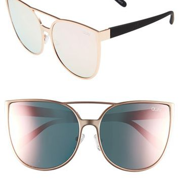 Quay Australia Sorority Princess 60mm Cat Eye Sunglasses | Nordstrom