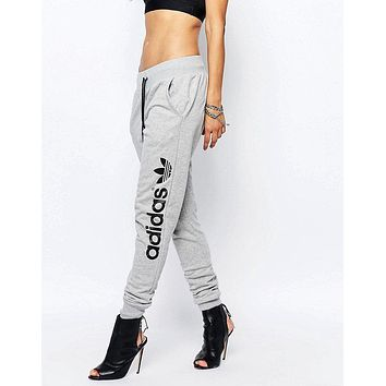 adidas women fashion print stretch trousers pants sweatpants-1