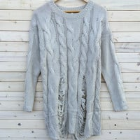 A Grungy Girl Sweater in Cream