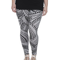 Zig Zag Geo Print Legging | Shop Jr. Plus at Wet Seal