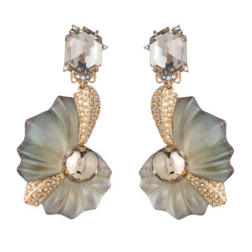 Crystal Encrusted Shell Clip Earring | Alexis Bittar
